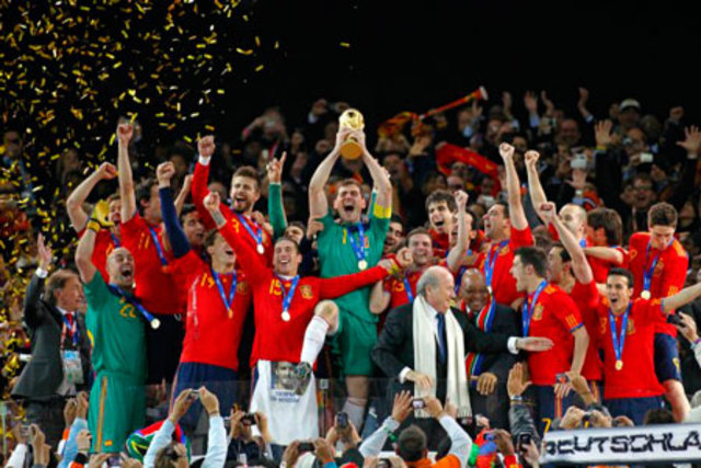 España gana el mundial de fútbol.