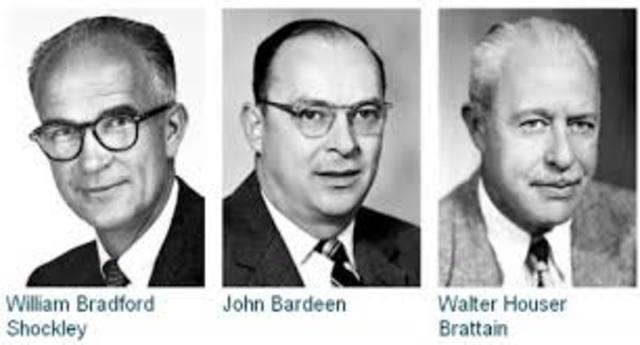 Bardeen, Shockley y Brattain