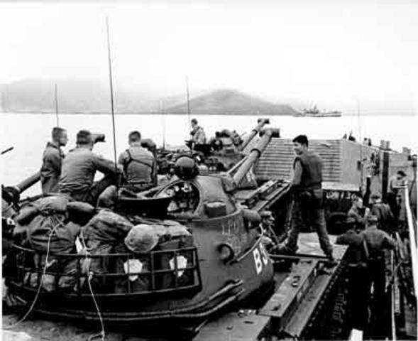 U.S officially enters the Vietnam war