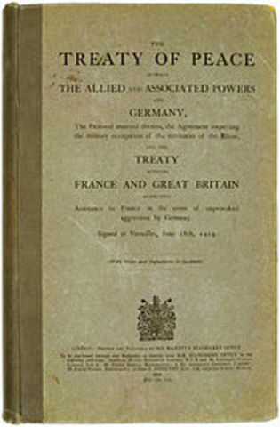 Europe - Treaty of Versailles