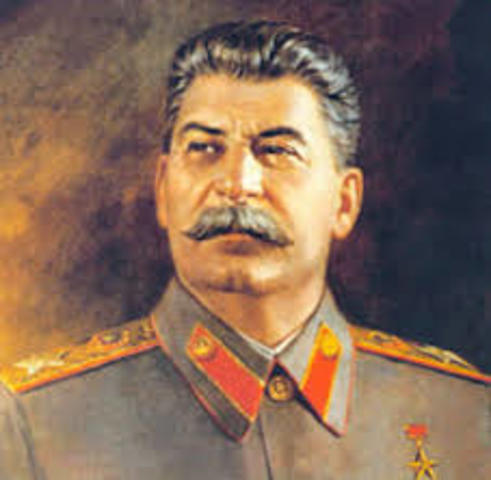 Russia - Stalin launches five year plan to expand Soviet industry