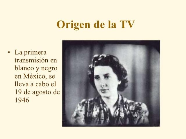 Primer trasmision en blanco y negro en Mexico