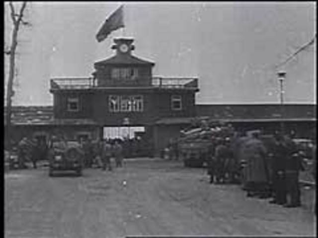 The convoy arrived at Buchenwald