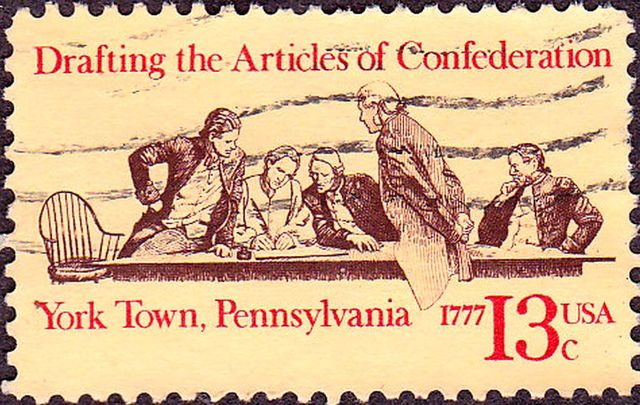 """Articles of Confederation oficially """"in force"""" after ratification by the colonies"""
