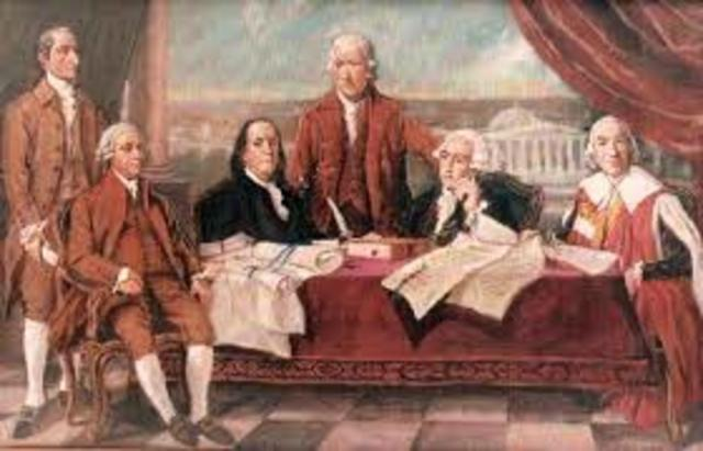 Treaty of Paris is signed by Great Britain and the United States, ending the Revolutionary War, Senate ratifies in 1784
