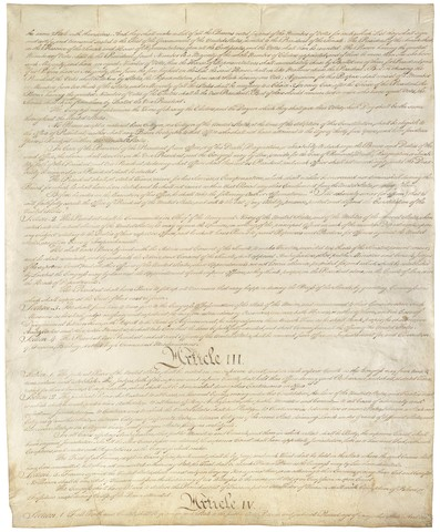 The Constitution is in effect after receiving the approval of the requisite nine states