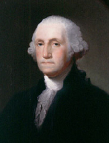 George Washington is elected first President of the United States, John Adams is Vice President