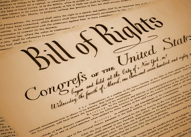 The Bill of Rights is submitted by Congress to the states for ratification