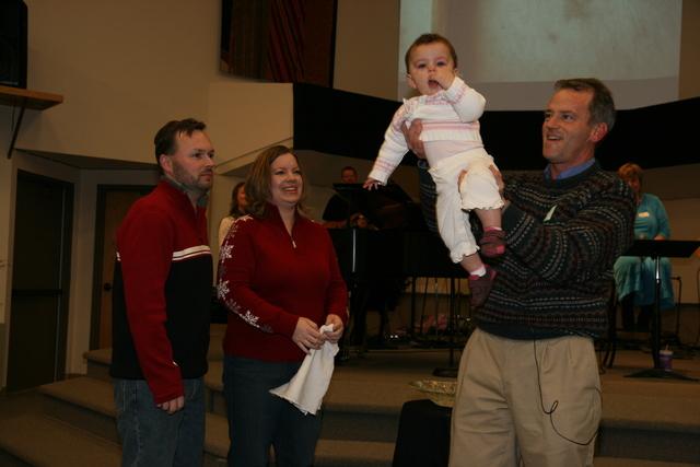 Dedication with Pastor Mark