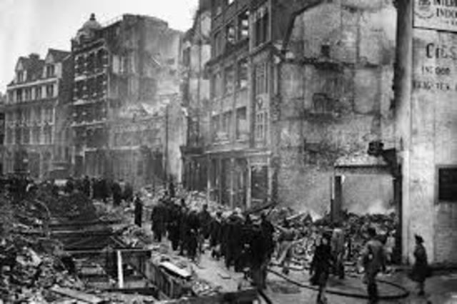 German Bombing on London Begins