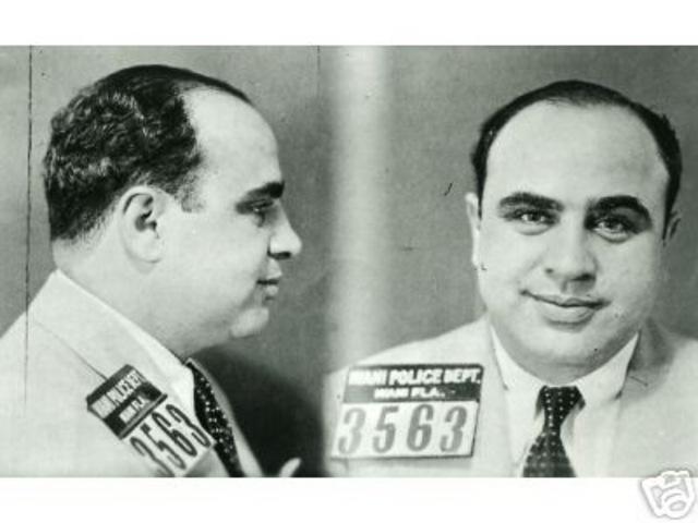 Al Capone is imprisoned for income tax evasion