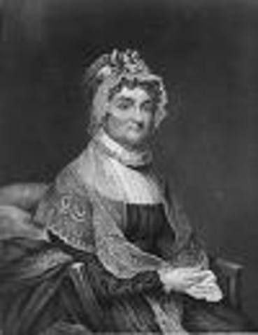 Abigail Adams questions her husband on equality...