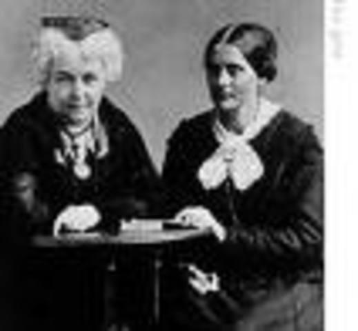 Elizibeth Cady Staton and Susan B. Anthony Found A.E.R.A.