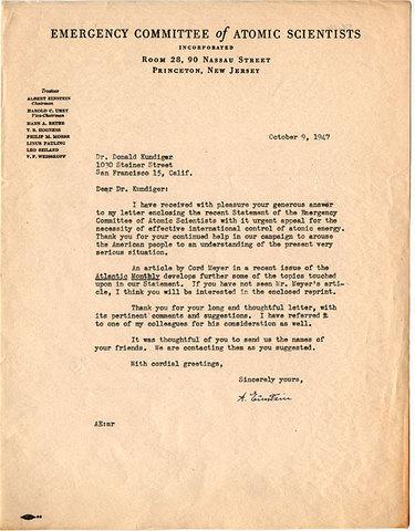 "Einstein's letter to FDR, ""The Manhattan Project"""