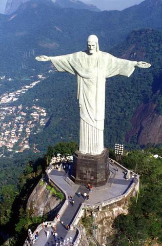 The christ monument was built