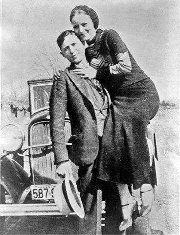 Bonnie and clyde killed by the police