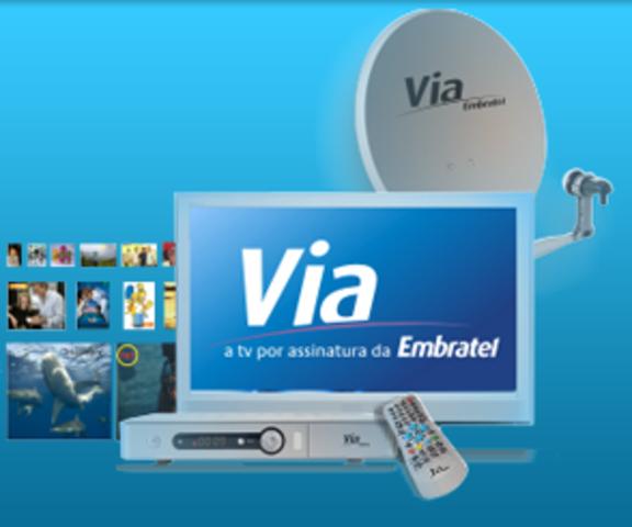 Lançamento oficial da Via Embratel TV por Assinatura