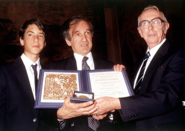 Elie wins the Nobel Peace Prize