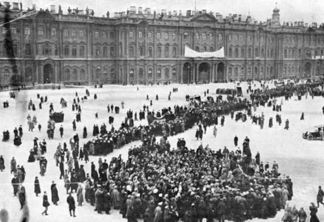 Russian Bolsheviks rebel in October Revolution
