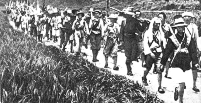 Mao Zedong heads Long March