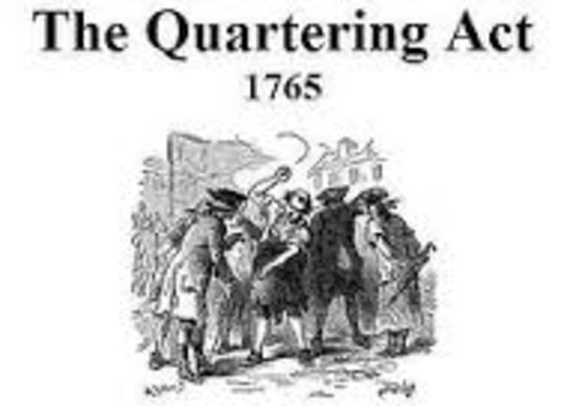 Quartering Act was passed