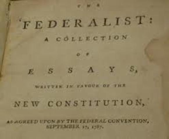 Federalist papers begin to be published