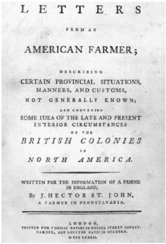 Letters of an American Farmer was published