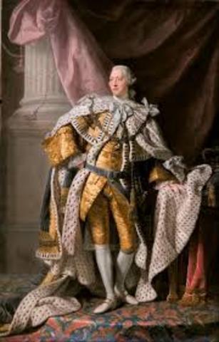 King George III crowned
