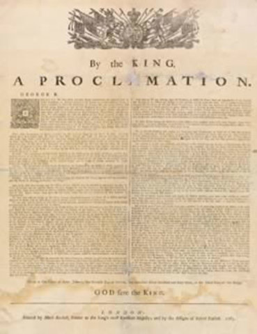 Proclamation of 1763 Passed