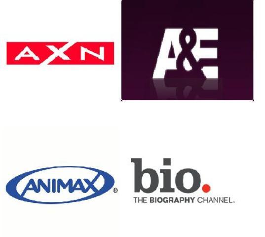 Estréia dos Canais AXN, Biography Channel, Animax e A&E.