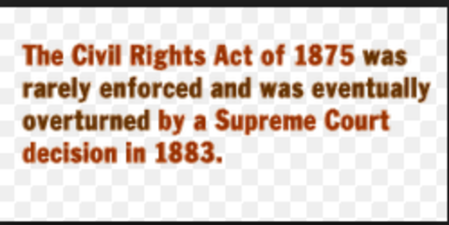 Civil right act of 1875