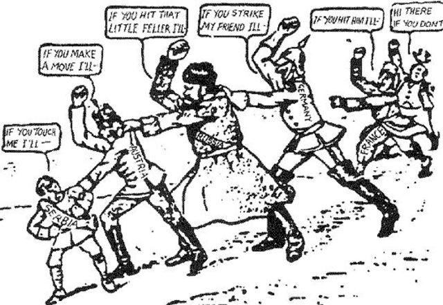 Alliances Cause Chain Reaction in War