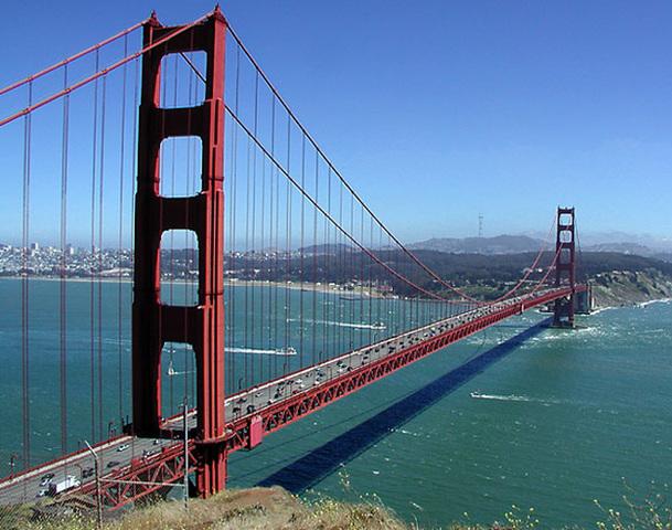 Golden gate bridge opens