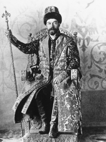 Nicholas II becomes czar of Russia