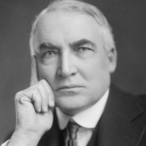 Warren G. Harding takes office