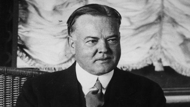 Herbert Hoover is elected