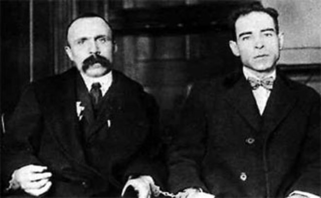 Sacco and Vanzetti are unjustly executed