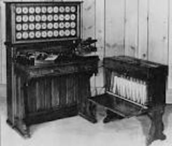 Máquina tabuladora de Targetas Perforadas.