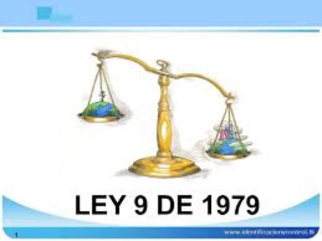 Ley 9/1979 Ministerio de Salud
