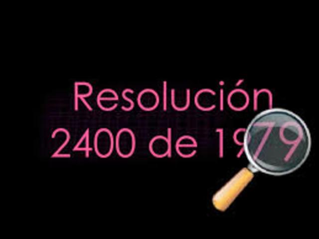 Resolucion 02400 Ley 9