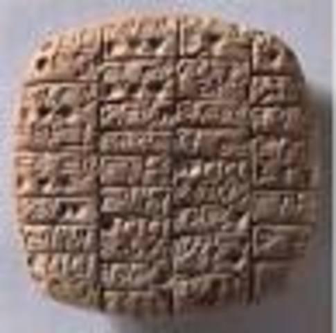 5500 A.C La edad antigua las tablillas de barro