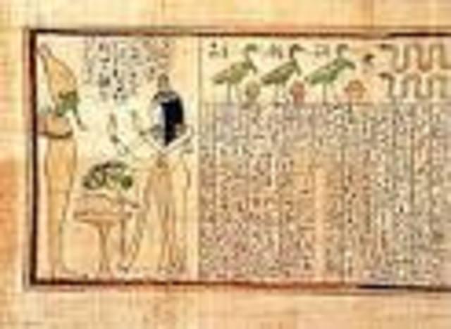 papiro 3000 A.C Y la escritura griega