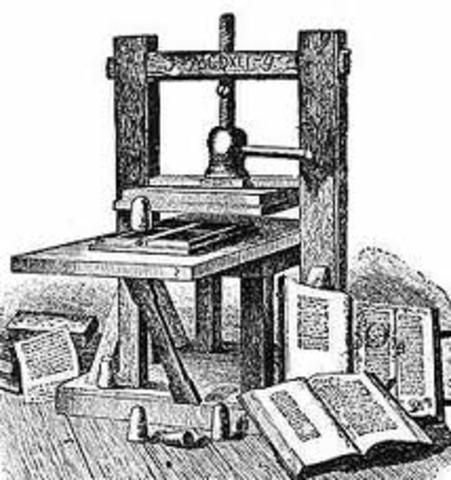 Imprenta tipogeafica 1455 D.C