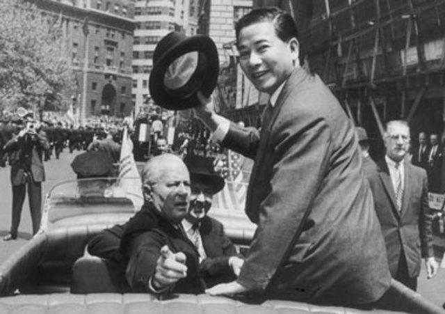 Ngo Dinh Diem Visits Eisenhower