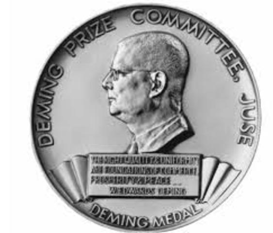 Japón crea el premio Deming.