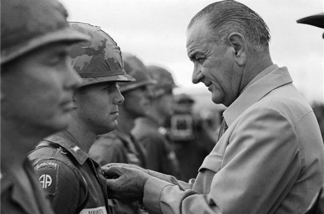 Johnson Visits South Vietnam