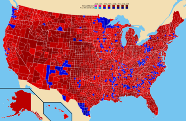 Reagan is reelected for a second term