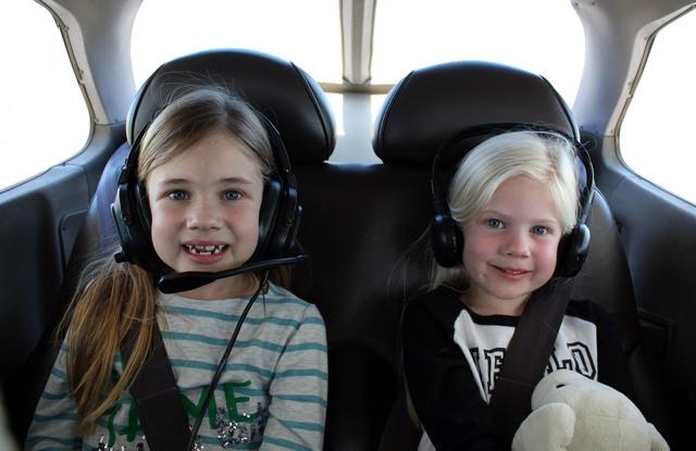 Flying in plane