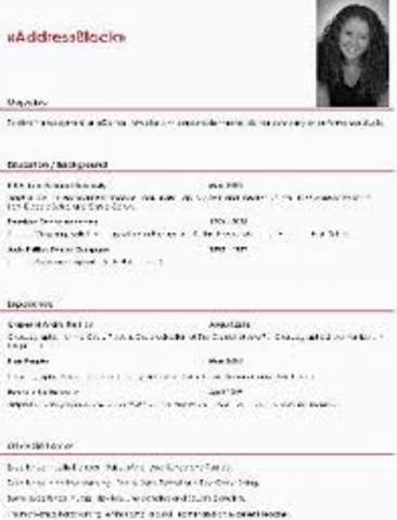 Lesson: Creating a Dance Resume