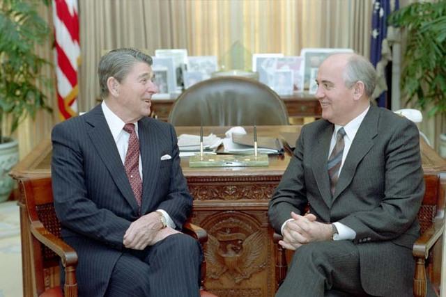 First Reagan-Gorbachev summit meeting